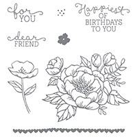 Birthday Blooms Clear-Mount Stamp Set by Stampin' Up!