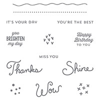 Sunburst Sayings Wood-Mount Stamp Set by Stampin' Up!