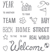 Welcome Words Photopolymer Stamp Set by Stampin' Up!