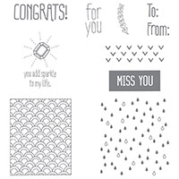 Sparkle & Shine Wood-Mount Stamp Set by Stampin' Up!