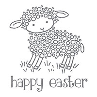 Easter Lamb Wood-Mount Stamp by Stampin' Up!
