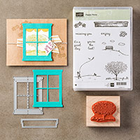 Happy Home Wood-Mount Bundle by Stampin' Up!