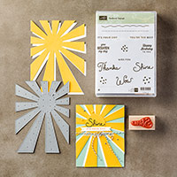 Sunburst Sayings Wood-Mount Bundle by Stampin' Up!