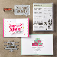 Party with Cake Clear-Mount Bundle by Stampin' Up!