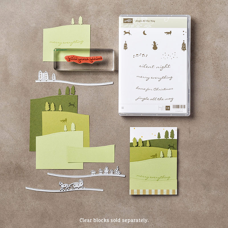 Jingle All The Way Clear-Mount Bundle by Stampin' Up! #140862