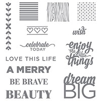 Enjoy the Little Things Photopolymer Stamp Set by Stampin' Up!