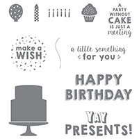 Party Wishes Clear-Mount Stamp Set by Stampin' Up!