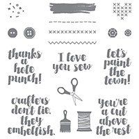 Love You Sew Clear-Mount Stamp Set by Stampin' Up!
