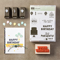 Party Wishes Wood-Mount Bundle by Stampin' Up!