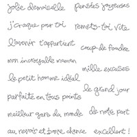 Souhaits à volonté Clear-Mount Stamp Set (French) by Stampin' Up!