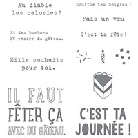 Faut fêter ça Clear-Mount Stamp Set (French) by Stampin' Up!