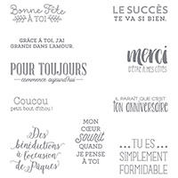 Encore des souhaits Clear-Mount Stamp Set (French) by Stampin' Up!