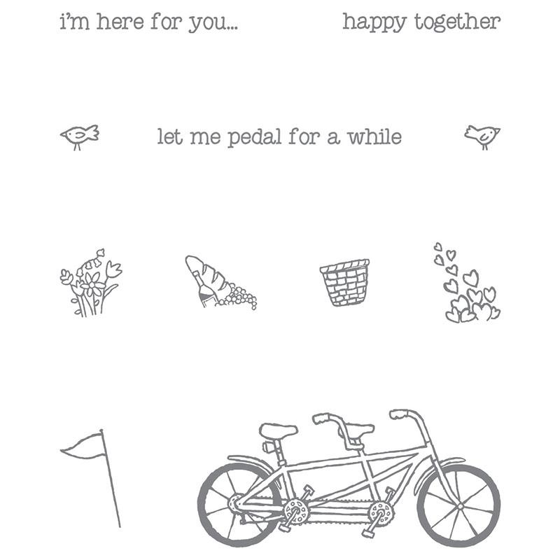 Pedal Pusher stamp set, Stampin' Up!