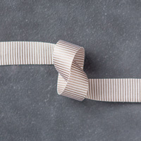 Tip Top Taupe 5/8 (1.6 cm) Mini Striped Ribbon