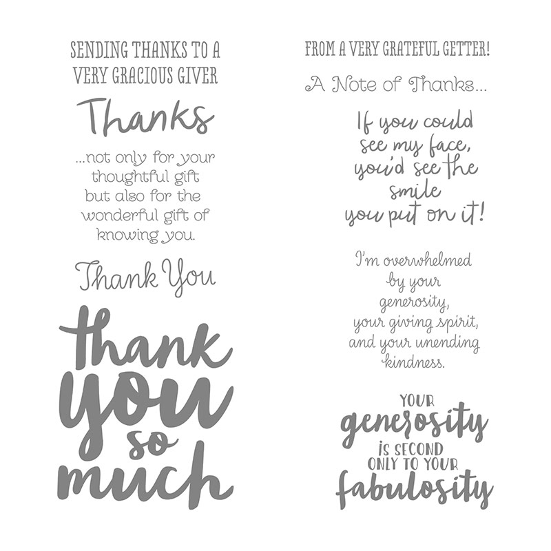 Thankful Thoughts, Stampin' Up!
