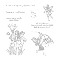 Fairy Celebration Wood-Mount Stamp Set