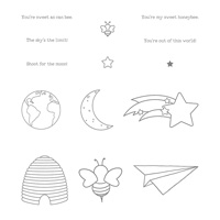 Shooting Star Clear Mount Stamp Set