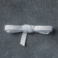 Smoky Slate  1/8 (3.2 mm) Stitched Ribbon