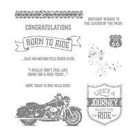 One Wild Ride Wood Mount Stamp Set