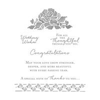 Floral Phrases Clear Mount Stamp Set