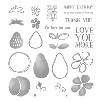 Fresh Fruit Photopolymer Stamp Set