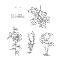Fabulous Flora Wood-Mount Stamp Set