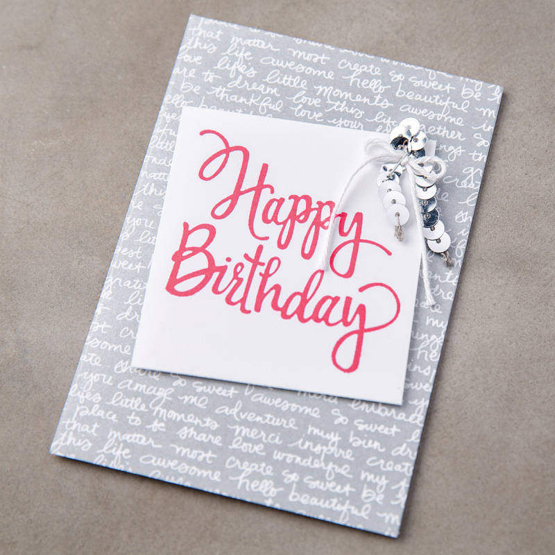 Stylized Birthday WoodMount Stamp Set by Stampin Up – Stampin Up Birthday Card