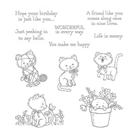 Pretty Kitty Wood-Mount Stamp Set