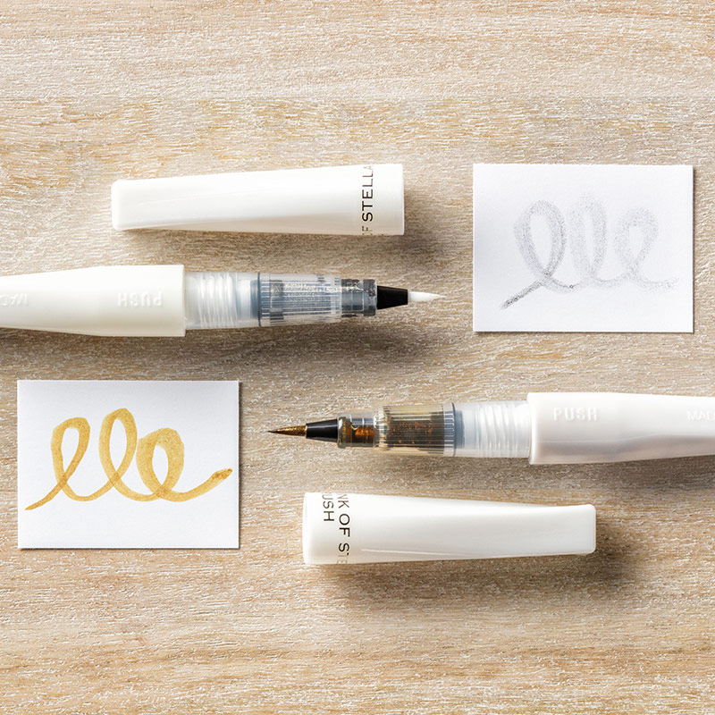 Gold Wink of Stella Glitter Brush by Stampin' Up!