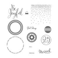 Merriest Wishes Wood Mount Stamp Set