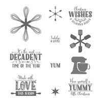 Yummy Little Christmas Clear-Mount Stamp Set