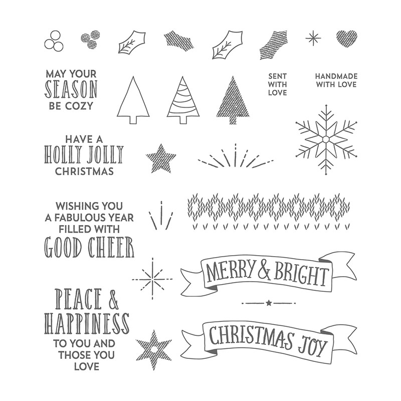 Stitched with Cheer, Stampin' Up!