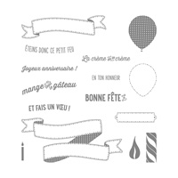Banderoles De Fête Photopolymer Stamp Set (French)