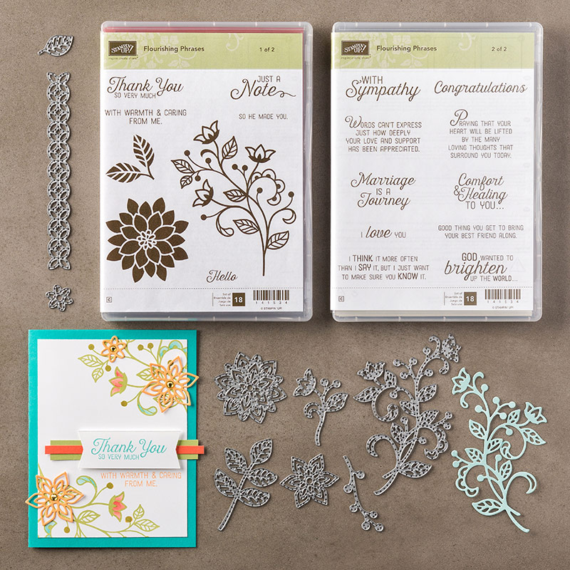 Flourishing Phrases Bundle, Stampin' Up!