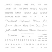 Project Life Une date Photopolymer Stamp Set (French)
