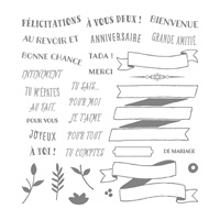 Banderoles pour vous Photopolymer Stamp Set (French)
