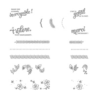 Bordures et boutures Photopolymer Stamp Set (French)