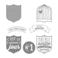 Badges Et Banderoles Clear-Mount Stamp Set (French)