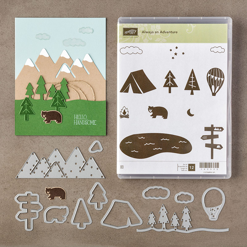 Always an Adventure bundle, Stampin' Up!