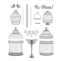 Builder Birdcage Photopolymer Stamp Set
