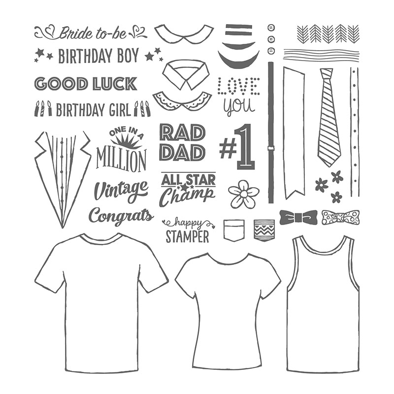 Custom Tee Photopolymer Stamp Set