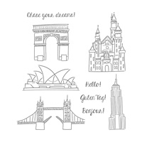 Chase Your Dreams Wood-Mount Stamp Set