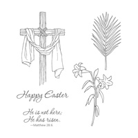 Easter Message Wood-Mount Stamp Set