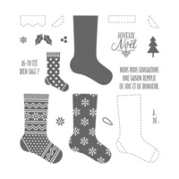 Bas de Noël Photopolymer Stamp Set (French)