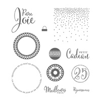 Meilleurs vœux Clear-Mount Stamp Set (French)