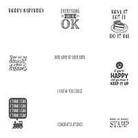 Designer Tee SAB Wood Mount Stamp Set