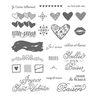Scellée d'un baiser Photopolymer Stamp Set