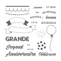 Brillant anniversaire Photopolymer Stamp Set