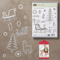 Traîneau de Noël Photopolymer Bundle (French)