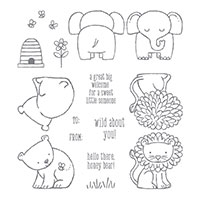 A Little Wild Wood-Mount Stamp Set